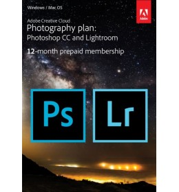 Adobe Photography Plan Creative Cloud 1 Gebruiker 1Jaar 20GB cloudopslag