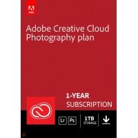 Multimedia: Adobe Photography Plan (Photoshop CC + Lightroom CC) | 1 User | 1year | 1TB cloudstorage