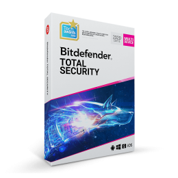 Security: Bitdefender Total Security Multi-Device 2019 5-Devices 2years