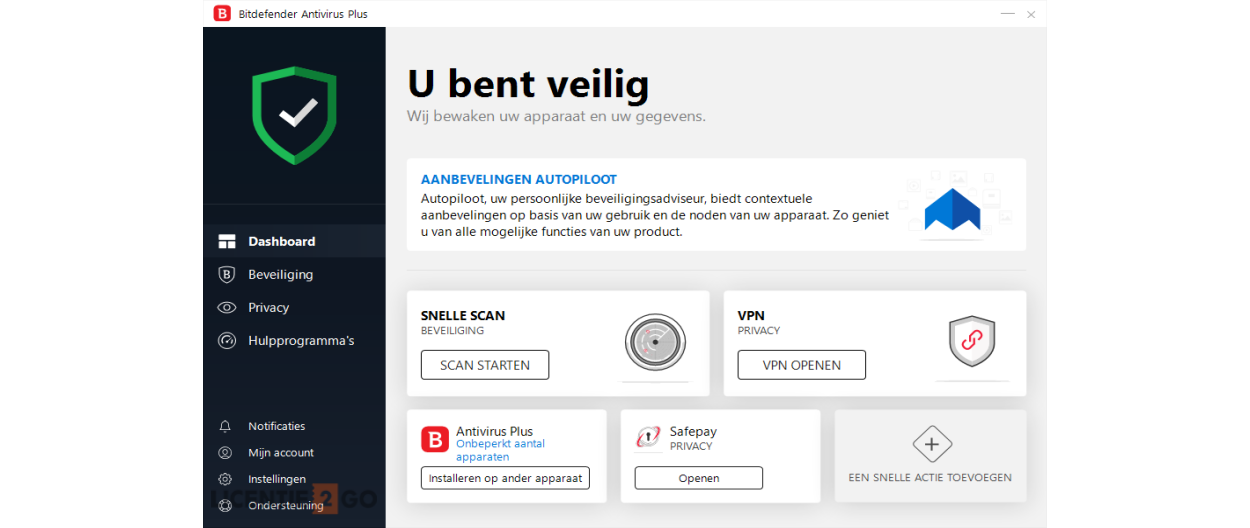 Bitdefender Antivirus Plus 2020 | 1PC | 1jaar | Windows 10, 8, 7