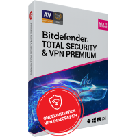 Bitdefender Total Security + VPN Premium 10-Devices 1year