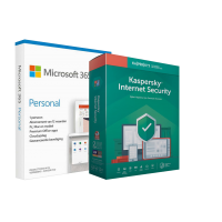 Kaspersky Internet Security: Microsoft 365 Personal veiligheidsbundel (incl. 1 jaar Kaspersky Internet Security)