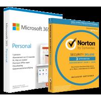 Office: Microsoft 365 Personal + Norton Security | 1 Gebruiker | voordeelbundel