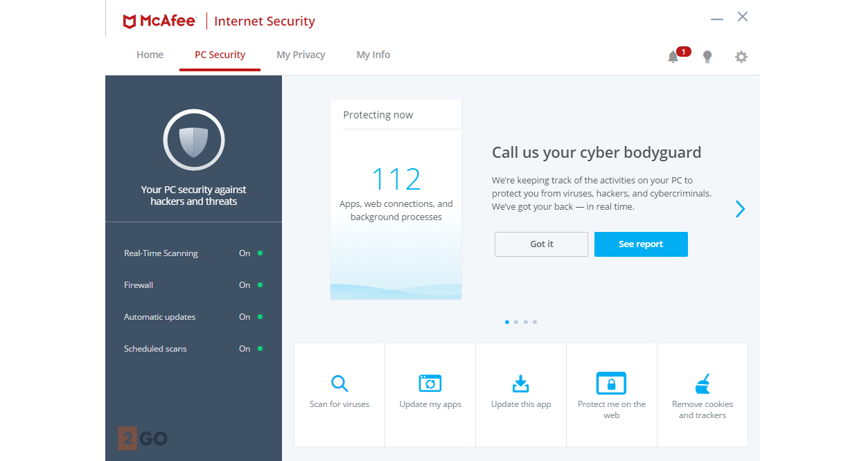McAfee Internet Security 2020 1PC 1year