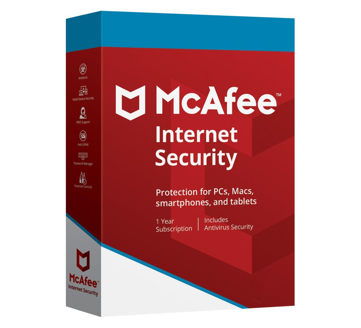 McAfee Internet Security Multi-Eszköz 3Devices 1year 2019