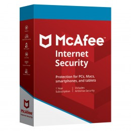 Security: McAfee Internet Security Multi-Device 3-Devices 1year 2019