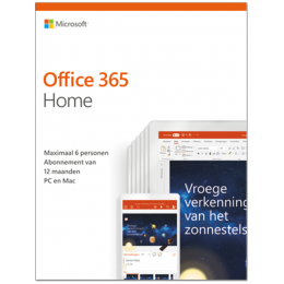 Office producten: Microsoft Office 365 Home | 6Gebruikers 1jaar |  Windows | Mac | Android | iOS | Updates inbegrepen