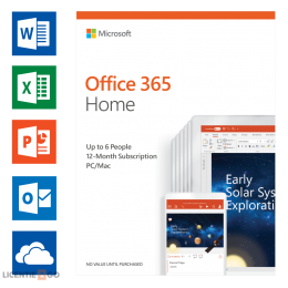 Office 365: Microsoft Office 365 Home 6Users 1year