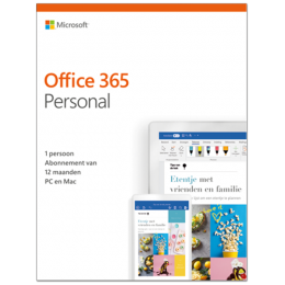 Office producten: Microsoft Office 365 Personal| 1Gebruiker 1jaar | Windows | Mac | Android | iOS | Updates inbegrepen