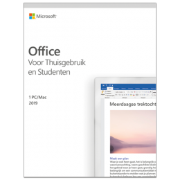 Office producten: Microsoft Office 2019 Thuisgebruik & Student Windows + Mac