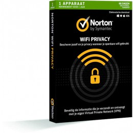 Mobile Security: Norton WiFi Privacy 1-Apparaat 1 jaar
