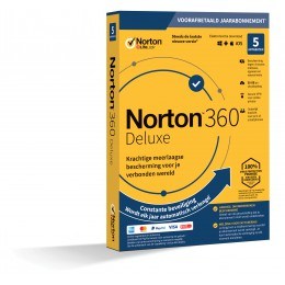 Antivirus: Norton 360 Deluxe | 5Apparaten - 1Jaar | Windows - Mac - Android - iOS | 50Gb Cloud Opslag
