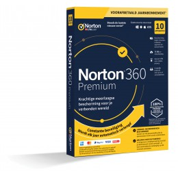 Antivirus: Norton 360 Premium | 10Apparaten - 1Jaar | Windows - Mac - Android - iOS | 75GB Cloud Opslag