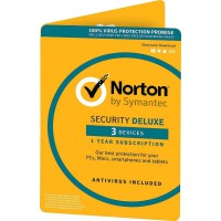 Norton Security Deluxe: Norton Security Deluxe 3-Devices 1Year2020 - Antivirus Included - UK-Edition