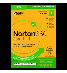 Norton 360 Standaard   1Device - 1Year   Windows - Mac - Android - iOS   10Gb Cloud Storage