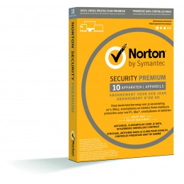 Antivirus: Norton Security Premium 10-Apparaten + 25GB Backup 1jaar 2019 - Antivirus inbegrepen - Windows | Mac | Android | iOS