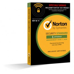 Antivirus: Norton Security Standaard + WiFi Privacy 1-Apparaat 1jaar 2019