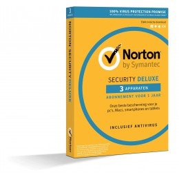 Antivirus: Norton Security Deluxe 3-Devices 1Year2020 - Antivirus Included - UK-Edition