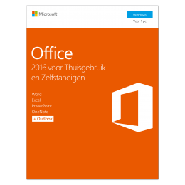 Office producten: Microsoft Office 2016 Thuisgebruik & Zelfstandigen 1PC Windows