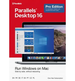 Parallels Desktop 16 PRO - 1Year - Home users & Professionals | 1 installation